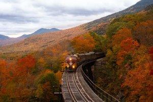 紅葉の時期の列車は最高です!